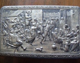Vintage Teniers Tin  Eat Drink and be Merry