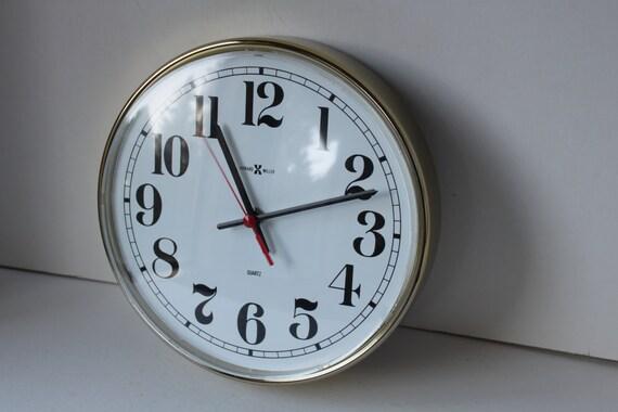 reduced vintage howard miller wall clock gold frame by