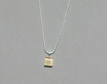 Champagne Glass Tile Necklace