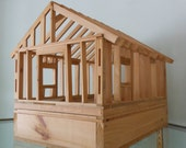 Wood framework scale model house - carpentry project