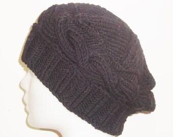 100% wool hats in Black Beret Women's Hat in Black Hat Woman Winter Hat gift for her