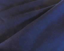 Herringbone Cotton Flannel Suiting Fabric Navy Blue 2770 Sold by the Half Yard (45 cm)