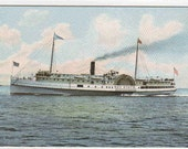 Steamer Bay State Portland Maine 1910c postcard
