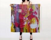 OM Yoga Silk Art Scarf