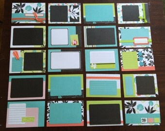 Set of 20 PROJECT LIFE 4x6 cards - Handmade