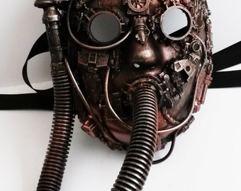 steampunk  respirator mask,