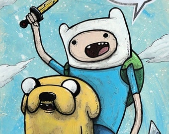 """Finn & Jake - 8""""x10"""" - """"What Time Is It?"""" - Adventure Time - Limited Edition Print"""
