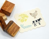 Choice of 9 Varied Menu Olive Wood Stamps Vegetarian/Chicken/Beef/Fish/Lamb/Child's Meal
