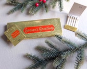 1960s Holiday Match Books - Christmas matches - Dead Stock Vintage - set of 8 packs of matches in sleeve