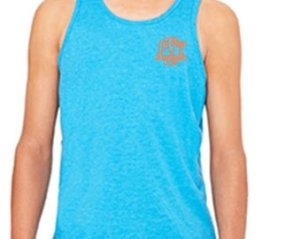 Youth monogrammed tank top,  youth personalized tank top,