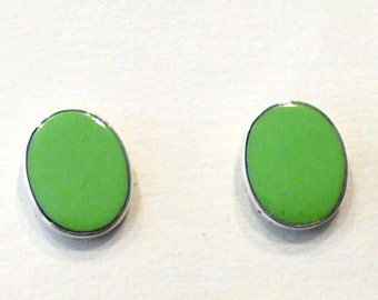 Sterling Silver With 8 X 10mm Gaspeite Studs