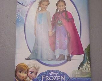 Simplicity S0733 / Simplicity 1233 - Disney Frozen Anna & Elsa Dress pattern Size 3-8 - new!