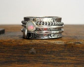 Opal & Heart 3 Spinner Ring US/Canada Sizes