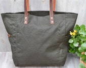 Thompson St. Waxed cotton tote bag