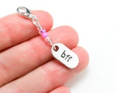 Best Friend Forever Charm. BFF Charm for Friends. Beaded Keychain Charm. BSC018