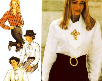 Style Blouse Pattern 2322 - Misses' Blouses with Neckline Variations - SZ 8/10/12/14/16/18