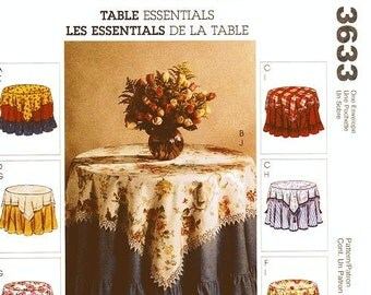 McCall's Home Decor Pattern 3633 - Table Essentials - Assortment of Table Toppers and Tablecloths/Table Covers