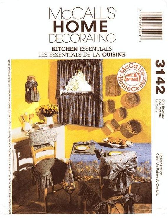 mccall s home decor pattern 3142 kitchen essentials
