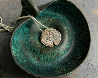Unique Leo Zodiac Coin Necklace. Silver Coin Jewelry. Coin Replica Pendant. Vintage Style. Unisex Jewelry. Leo Symbol. Easter Gifts Idea