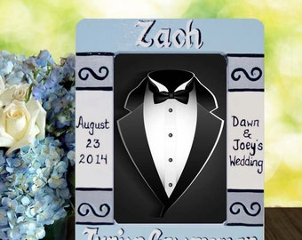 Personalized Ring Bearer Hand Painted Frame
