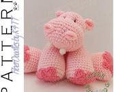 INSTANT DOWNLOAD : KISS Series - Hippopotamus Crochet Pattern