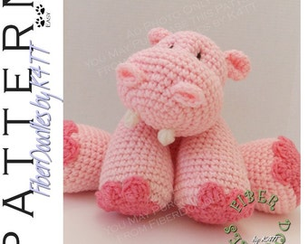 INSTANT DOWNLOAD : KISS Series - Hippopotamus Crochet Pattern