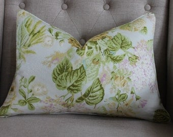 """Charlotte Moss for Fabricut  Claire Fairblanca - 14""""X20"""" pillow cover - Pattern on both sides"""