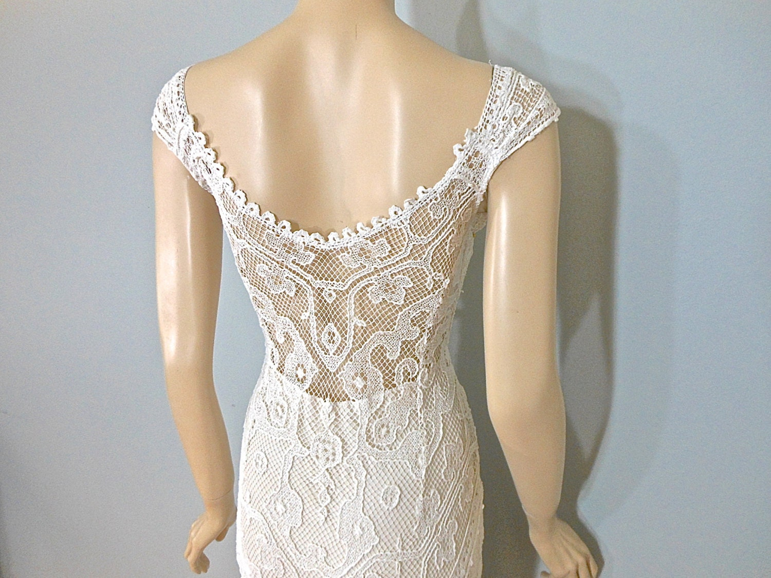 Simple Lace WEDDING Dress Victorian Wedding Dress By