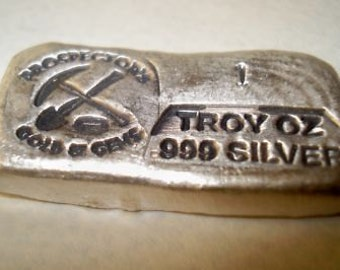 Old Style Bar. Real Nice Bar 1 TROY OZ .999 SILVER