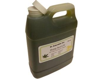 32 OZ Hemp Seed Oil 100% Pure Organic Cold Pressed UNREFINED