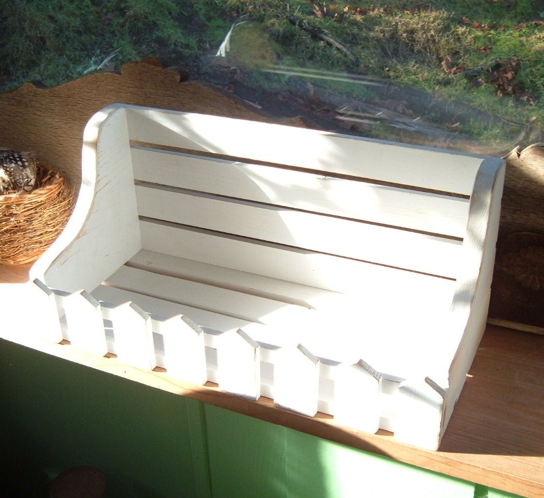 White Wood Shelf Picket Fence Distressed 16 1 2 X 7 X By