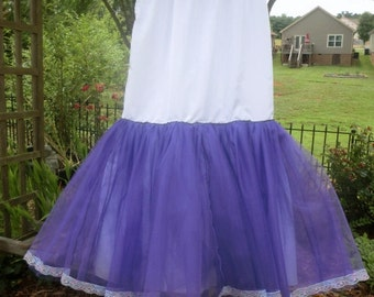 Something Blue or Black or Purple or .... Crinoline Petticoat for Mermaid or Trumpet Wedding Gowns