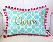 Kumari Gardens Pom Pom Pillow Cover