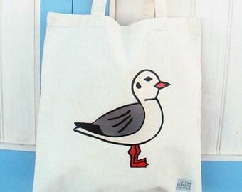Seagull Bag, Tote Bag, Bird Bag, Seagull Tote, Bird Tote, Cotton Tote, Shopping Bag, Eco Tote Bag, Reusable Grocery Bag
