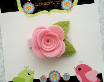 Felt Flower Hair Clip - Felt Hair Clip - Flower Hair Clip - Pick Your Own Posy - Baby Hair Clip, Toddler Hair Clips, Girls Hair Clip