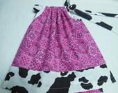 Little Girl Cowgirl Western Theme Dress Custom Sizes NB-6yrs