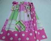 Pillowcase Dress John Deere Pink Plaid with Polkadots Custom Sizes NB-6yr
