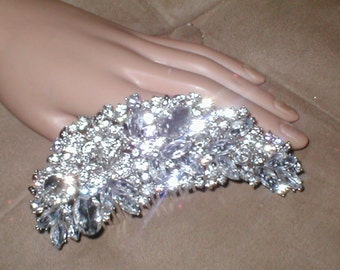 Rhinestone Hair Comb Hair-Brooch Bridal Wedding