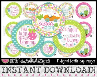 "Easter's Coming - INSTANT DOWNLOAD 1"" Bottle Cap Images 4x6 - 641"