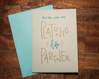 Platonic Life Partner - card