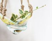 RESERVED - SALE Quirky handmade hanging ceramic planter