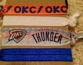 OKC Thunder Set of 4 Elastic Hairties/Wristlets