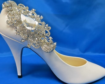 Rhinestone Shoe Clips, Bridal Shoe Accessory,  Rhinestone Shoe Clips,  Bridal Party Shoes, Wedding Shoe Clips