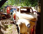 Old 1946 Studebaker Truck Art - Vintage Truck - Perfect ManCave Art Decor Antique Cream Tan Pickup - Farm Truck - Fine Art Giclee Photo 8x12