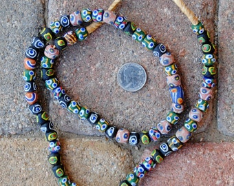 African Mixed Round Krobo Beads 10x10mm