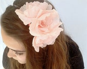 Pink Peony Crepe Paper Flower Headband