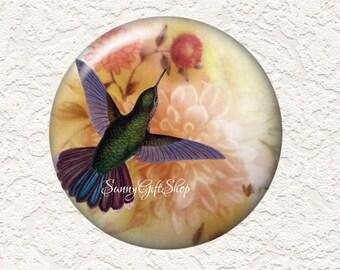 3.5 Inch Large Pocket Mirror Hummingbird with Black Velour Bag  Buy 3 Get 1 Free  012LM
