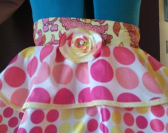 Candy Crush Couture Apron by Featured designer in Apronology Magazine