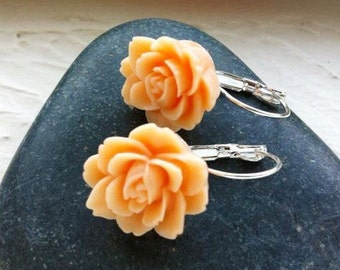 Sale Rose Earrings in Silver
