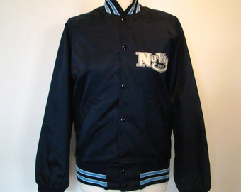 Vintage 80s / NuWay / Dark Blue / Baseball / Trucker Jacket / SMALL